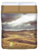 Hills And Outback Tracks Duvet Cover