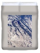 Hills And Valleys Aerial Duvet Cover
