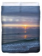 Hills Of Clouds With Ocean Sunset Duvet Cover