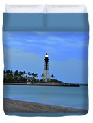 Hillsboro Lighthouse Twilight Time Duvet Cover