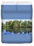 Hillsborough River Panorama 1 Duvet Cover