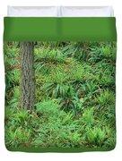 Hillside Ferns Duvet Cover