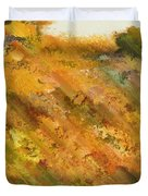 Hillside Flowers II Duvet Cover