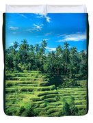 Hillside In Indonesia Duvet Cover