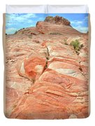 Hillside Of Color In Valley Of Fire Duvet Cover
