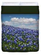 Hillside Texas Bluebonnets Duvet Cover
