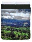 Hilly Terrain Duvet Cover