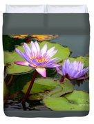 Hilo Water Lily 2 Duvet Cover