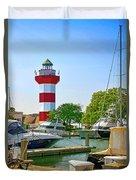 Hilton Head Lighthouse Sc Duvet Cover
