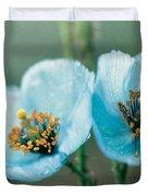 Himalayan Blue Poppy Duvet Cover