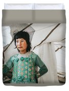 Himalayan Girl Duvet Cover