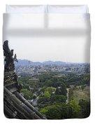Himeji City From Shogun's Castle Duvet Cover