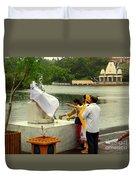 Hindu Offering Duvet Cover