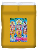 Hindu Trinity Brahma Vishnu Shiva Duvet Cover