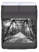 Hinkson Creek Bridge In Black And White Duvet Cover