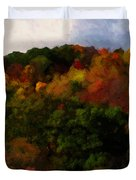Hint Of Fall Color Painting Duvet Cover