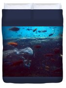 Hippo Eating African Cichlids Duvet Cover