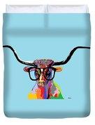Hipster Longhorn Duvet Cover