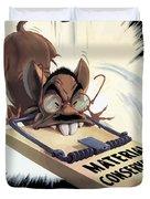 Hirohito As A Rat Duvet Cover