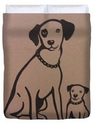 His Masters Voice - Nipper And Chipper Duvet Cover