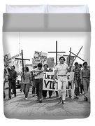 Hispanic Anti-viet Nam War March 1 Tucson Arizona 1971 Duvet Cover