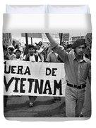 Hispanic Anti-viet Nam War March 2 Tucson Arizona 1971 Duvet Cover