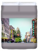 Historic Alabama And Lyric Theatres Duvet Cover