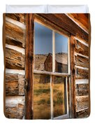 Historic Bannack Mining Reflections Duvet Cover