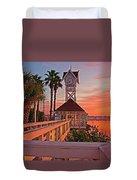 Historic Bridge Street Pier Sunrise Duvet Cover