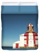 Historic Cape Bonavista Lighthouse, Newfoundland, Canada Duvet Cover