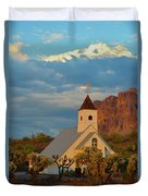 Historic Church In Superstition Mountain State Park Duvet Cover