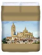 Historic City Of Segovia Duvet Cover