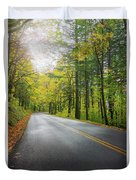 Historic Columbia River Highway In Fall Duvet Cover
