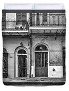 Historic Entrances Bw Duvet Cover