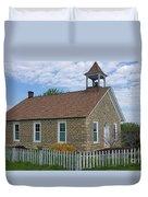 Historic Hinerville Schoolhouse  Duvet Cover