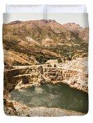 Historic Iron Ore Mine Duvet Cover