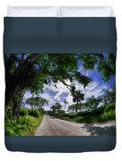 Historic Jungle Trail Vero Bch Fl V Duvet Cover