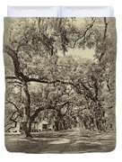 Historic Lane Antique Sepia Duvet Cover