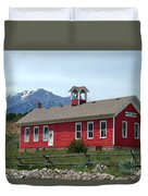 Historic Maysville School In Colorado Duvet Cover
