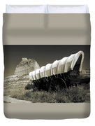 Historic Oregon Trail - Vintage Photo Art Print Duvet Cover