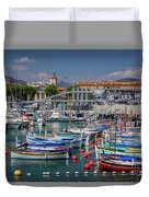 Historic Port Of Nice, France Duvet Cover