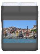 Historic Porto Riverfront Duvet Cover