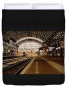 Historic Railway Station In Haarlem The Netherland Duvet Cover