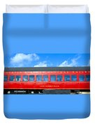 Historic Red Passenger Car, Austin & Duvet Cover