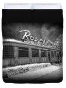 Historic Rosie's Diner In Black And White Infrared Duvet Cover