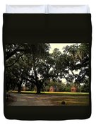 Historic Slave Houses At Boone Hall Plantation In Sc Duvet Cover