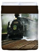 Historic Steam Train Duvet Cover