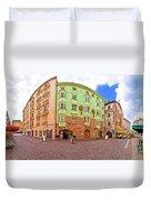 Historic Street Of Innsbruck Panoramic View Duvet Cover