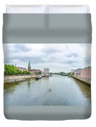 Historic Town Of Bremen And Weser River Duvet Cover