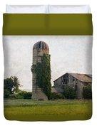 Historical Farm Scene Duvet Cover